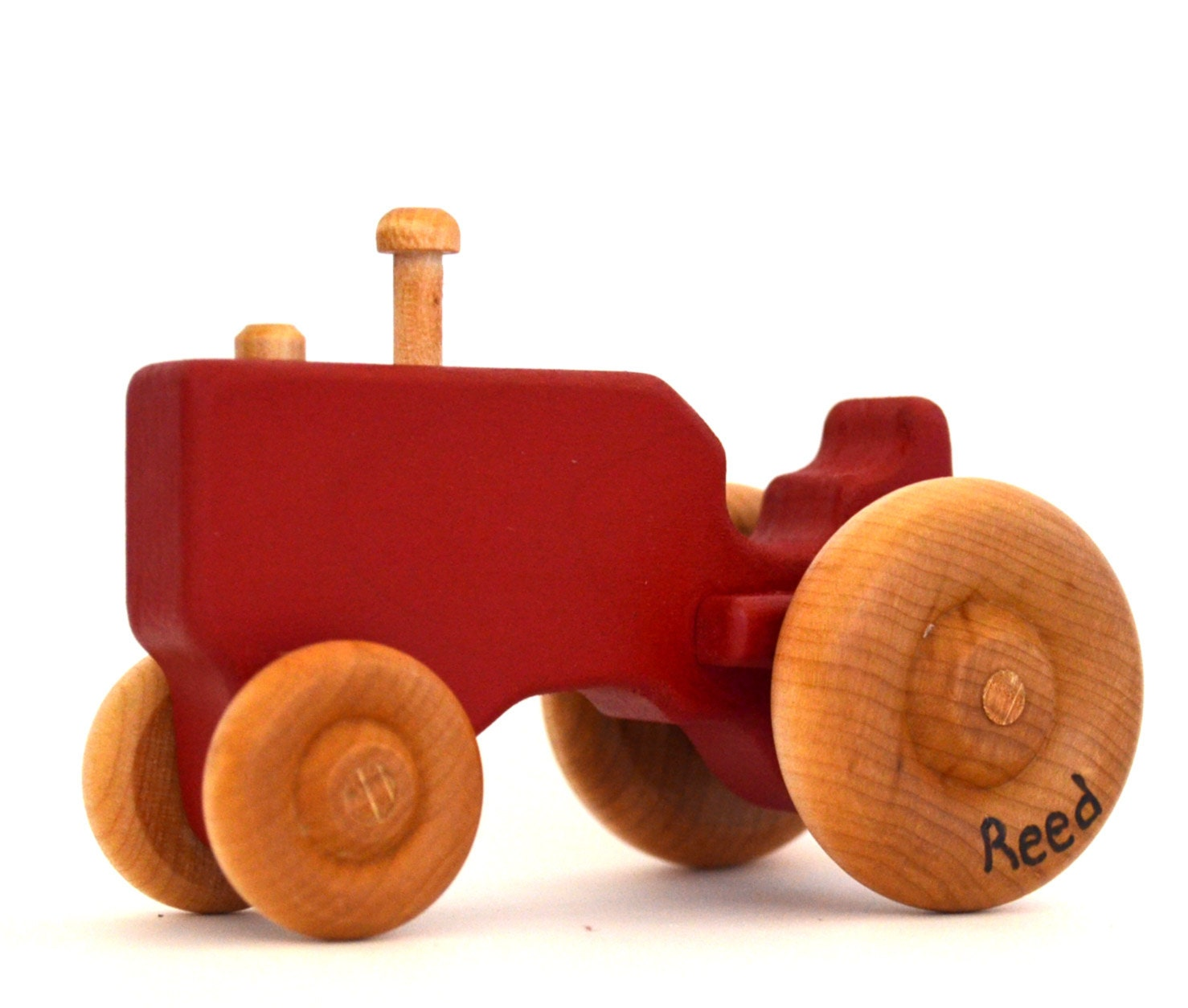 Toys Are Us Wooden Toys : Red wood toy tractor personalized wooden push