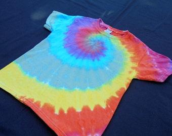Rainbow Spiral Child Tie Dye X-Small Shirt #412