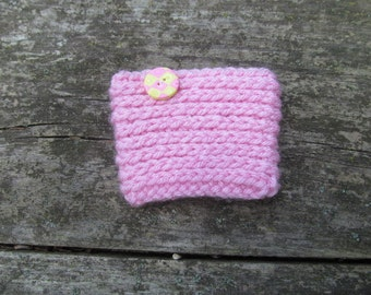 Light Pink Coffee Cozy