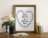 Please Take One and Watch Love Grow Printable Wedding Favour Sign Instant Handwritten Instant Print Your Own DIY Table Signage Whimsical