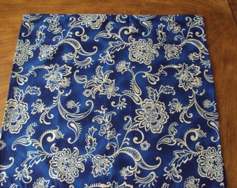 Blue batik napkin-dinner napkin, cloth napkin, fabric napkin, gift wrap,
