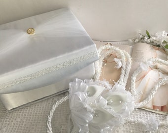 wedding lasso with case, WHITE color wedding set lasso and case by Narelo