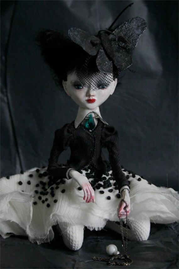 RESERVED Art doll Esthera