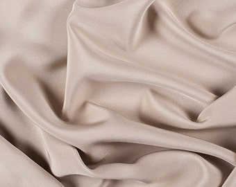 "45"" Wide 100% Silk 4 Ply Crepe Bronze by the yard"