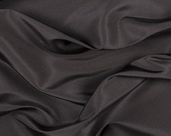 "54"" Wide 100% Silk Faille Black by the yard"