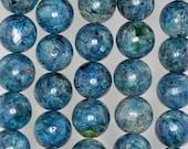 16mm Super Kyanite Gemstone Blue Round Loose Beads 7 inch Half Strand (90185045-890)