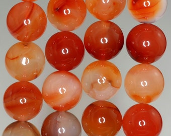14mm Carnelian Red Agate Gemstone Grade A Round Loose Beads 8 inch Half Strand (90186300-729)