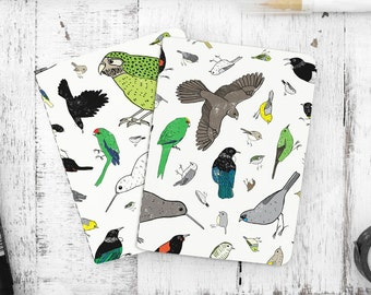 New Zealand Birds Eco-friendly Lined Pocket Notebook Pack