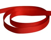 "Red Grosgrain Ribbon. 3/8"" Width. Narrow Grosgrain Ribbon. 5 Yards. No. 250"