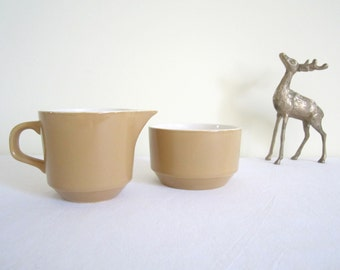 RETRO 1960s sugar bowl and creamer, milk jug - New Zealand