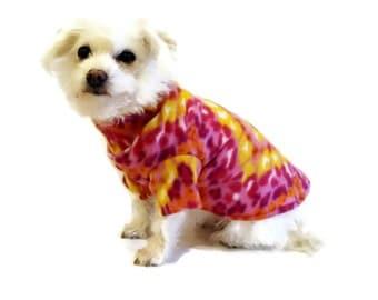 Hot Pink Fleece Dog Shirt-Fleece Animal Print Dog Shirt-Dog Sweater-Dog Clothing-Dog Apparel-Shirts for Dogs-Dog Shirts-Dog Sweaters