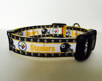 Pittsburgh Steelers  Inspired Dog  collar XS = XXL