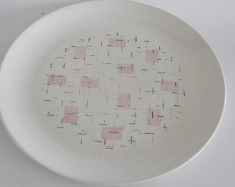 Metlox Veronware Tickled Pink Atomic Serving Platter Made in California