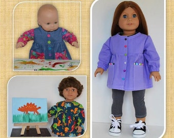 Let's Paint!  Artist Smock for 18 Inch Dolls and 15 Inch Baby Dolls