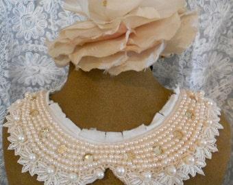 Pink Pearl Beaded Collars