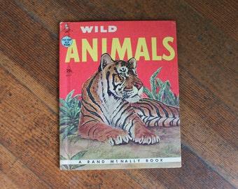 Vintage Children's Book - Wild Animals