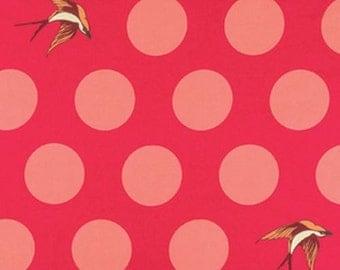 """Tula Pink - FREE FALL - 108"""" Wideback - Lipstick"""