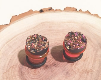 Pink Geode 00G gauges plugs 10mm