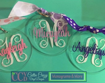 Patterned Personalized Acrylic Keychain