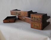 Sale!  Vintage / Anitque Salvage Set of Desk Drawers