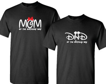 Mom or Dad of the Birthday Boy, Mickey Minnie Mouse Inspired t-shirt