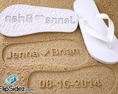 Custom Bridal Flip Flops *Check size chart before ordering*