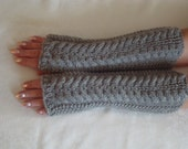 Fingerless  Gloves.Wool Knit Arm  Warmers. Office.Womens Gift. Gray Wrist,Hand/ Warmers White.Cable.Winter/Fall.Warm.Driving  mitts.