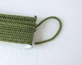 1.1 yards olive green, 5 mm twist cord, twisted, Wrapped Thread Cord, Satin Twisted cord , Decoration,Fabric Rope Trim Accent for Crafting