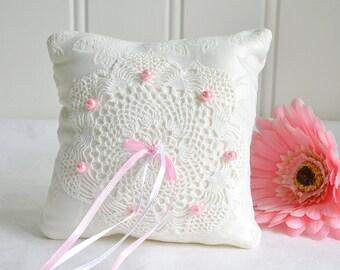 Ring bearer pillow creme Swedish wedding handmade