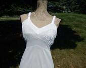 Vintage Lace Slip Ivory Women's Size 36 Full Length Slip Pin Up Lingerie Medium Large