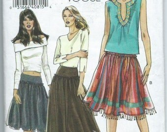 Vogue 8254 Misses' Skirt Sewing Pattern 'Gypsy Boho Style'