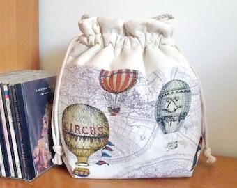 3 in 1 handbag / shoulder bag / crossbody bag ~ Hot air balloons (A11)
