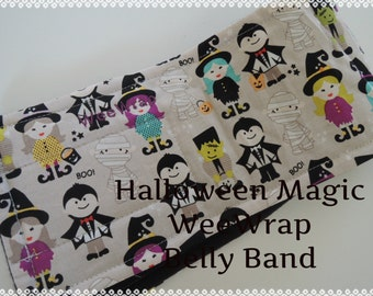 Halloween Magic Fabric, Dog Belly Band, Stops Marking, Male Dog, Personalized