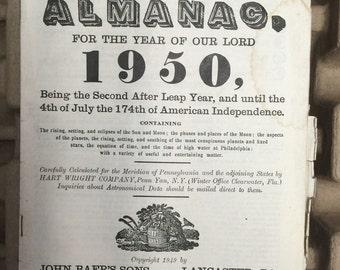 Agricultural Almanac 1950 1951 1952 Lancaster PA