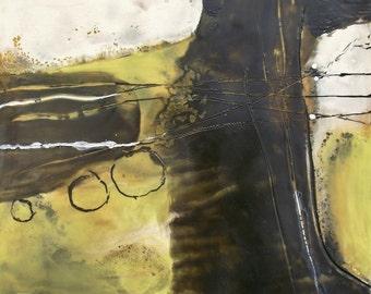 Encaustic Wax Abstract Modern Art Painting Original Wall Art by Donna Sledge