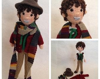 Fourth Doctor Who Amigurumi Crochet doll Pattern