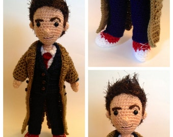 Tenth Doctor Who Amigurumi Crochet doll Pattern