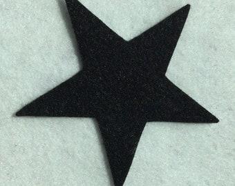 """50 black felt stars.....3"""""""