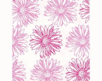 200 Pink Floral Paper Bags, 4x6 inches with Pink Flowers on White Paper - Flat Merchandise Bags