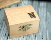 Personalized Wood Box / Monogrammed Jewelry Box / Custom Ring Box
