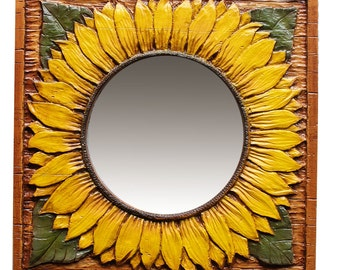 Sunflower Decor Wall Mirror