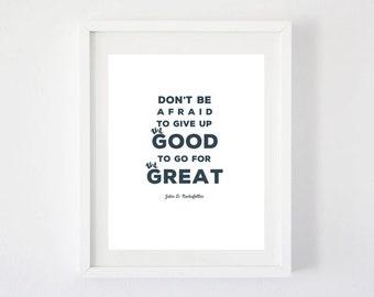 Good vs Great Art Print