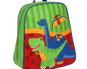 Children's Stephen Joseph Personalized Dino Vinyl Backpack, Go Go Bag with FREE Embroidery