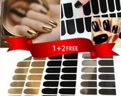 SALE Gold Black and Silver Nail Art Foil Tip Wrap Stickers Decals