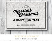 Beat Box Holidays | Christmas or Holiday Card | Corporate| Printed and Printable by Darby Cards