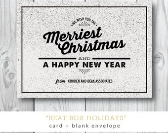 Beat Box Holidays Card