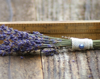 Real Lavender BUDGET Boutonniere