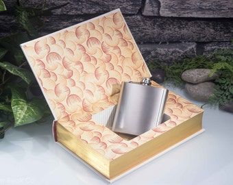 Hollow Book Safe and Hip Flask - This Side of Paradise - F. Scott Fitzgerald (LEATHER BOUND)