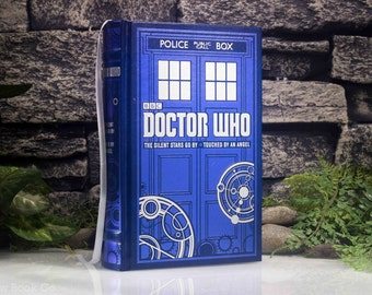 Hollow Book Safe - Doctor Who (LEATHER BOUND) The Silent Stars Go By - Touched By An Angel - Magnetic