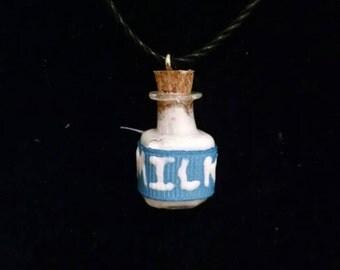 Legend of Zelda milk jar necklace